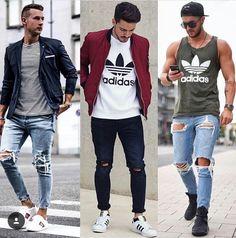 3 ideas bien cools 😉 Suit Fashion, Boy Fashion, Mens Fashion, Fashion Ideas, Casual Wear, Men Casual, Cool Outfits, Casual Outfits, Streetwear Fashion