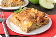 A variety of recipes incuding  HG's Healthy Apple-Sausage Breakfast Strata Recipe