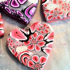Red clay Heart, Made by Emilia Sofia