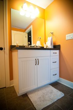Great wall color for #teenagers. White cabinets make the style #versatile, so you can change the paint #color as your kids get older.