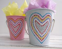 Cute easy tut. on how to make these treat buckets. Definitely making these for the kids filled with V-day treats as a surpise:)