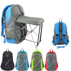 Hot! Multifunctional Backpack Portable Folding Chair Fishing Stool Outdoor Sport #Unbranded