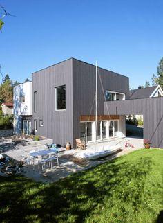 utradisjonelt uterom det moderne huset har et uterom som er inndelt i ulike soner - Moderne Huser 2015