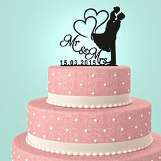 Yuma arizona wedding wedding cake cake and couture cakes mr and mrs wedding cake topper by urartdesign by urartdesign junglespirit Gallery