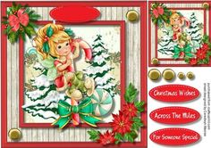 Lovely Candy Cane Fairy  on Craftsuprint - Add To Basket!