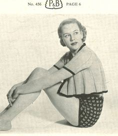 a03501f1ac1bc Ladies Swimwear Knitting patterns available from The Vintage Knitting Lady