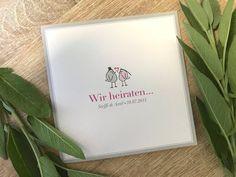 """Einladungskarte """"Täubchen"""" Romantisch-Modern zur Hochzeit Invitation Text, Invitations, Change Request, We Get Married, Print Release, Fine Paper, Custom Buttons, Do You Need, Marry You"""