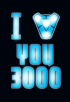 Te Amo 3000 Vengadores Poster A5 A4 A3 A2