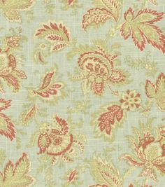 waverly evening scroll cloud fabric | Home Decor Fabrics-Waverly Valley Brook / Seamist | Decorating ideas!