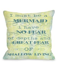 This 'Must Be a Mermaid' Pillow is perfect! #zulilyfinds