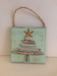 These Driftwood trees and shrubs on canvas will make a perfect item to the Coastal interior decoration lover, wether hung on a tree, or simply to add to your Coastal decor. These also make a great hostess gift tied over a package or perhaps a wine Christmas Projects, Christmas Art, Holiday Crafts, Beach Christmas, Natural Christmas, Driftwood Projects, Driftwood Art, Driftwood Ideas, Driftwood Signs