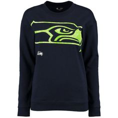 Women's Seattle Seahawks 5th & Ocean by New Era College Navy Team Color Camo T-Shirt