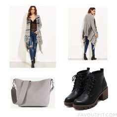 Look Update Including Cardigan Long Sleeve Cardigan Boots And Grey Handbag From January 2017 #outfit #look