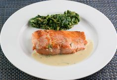 Sear-Roasted Salmon Filet with Rosemary Beurre Blanc Sauce