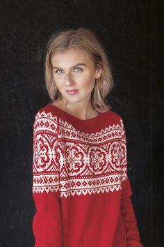 Pauline rød Christmas Sweaters, Blouse, Tops, Design, Women, Fashion, Threading, Model, Moda