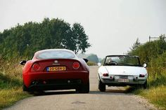 Alfa Romeo Old & New  said previous pinner but I realized that there is old Alfa Romeo, Alfa Romeo is always new and Alfa Romeo is Alfa Romeo :)