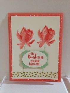 Pink Paper Bakery: Lotus Blossom Card