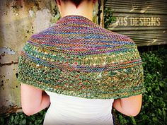 Knit in gorgeous, hand dyed merino, yak & silk blend yarn, this shawl is light on weight, but heavy on style!