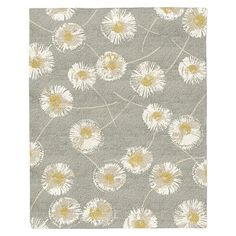 Dandelion Special Order Wool Rug - Colored Background (30-Day Delivery) #westelm