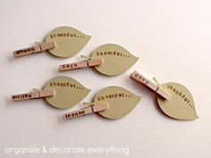 thankful clothespin placecards