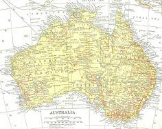 World map printable digital download high resolution originally antique images free map clip art vintage map of australia digital background gumiabroncs Gallery