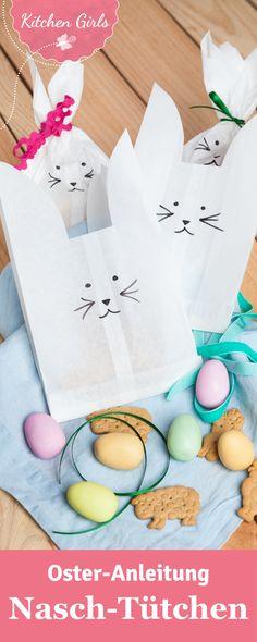 Ihr wollt eure Osternaschereien mal ungewöhnlich verpacken? Wir haben eine schnelle und günstige Bastelanleitung für niedliche Hasentüten für euch.
