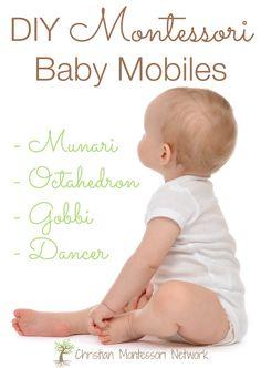 DIY Montessori baby mobiles ideas for your home. www.ChristianMontessoriNetwork.com