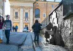 Dissetarsi alla Fontanella di San Pietro in Carcere al Campidoglio - #roma #rephotography