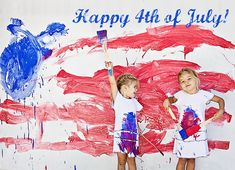 4th of July - paint photo shoot - gonna let me kids do this tomorrow