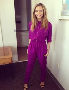 Jade Thirlwall recycles purple jumpsuit from How Ya Doin'? video and wows Little Mix fans - CelebsNow Jade Little Mix, Little Mix Jesy, Little Mix Style, My Style, 70s Fashion, Fashion News, Girl Fashion, Little Mix Instagram, Jade Amelia Thirlwall