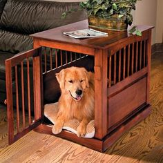 End table dog kennel