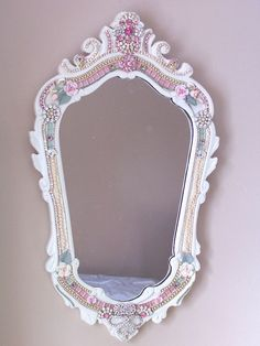 Enchantment Antique Cottage Mirror by sheriscrystals on Etsy