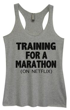Womens Fashion Triblend Tank Top - Training For A Marathon (On Netflix) - Tri-741