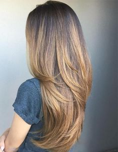 Golden Shades Hair Color Ideas for Layered Hairstyles 2018