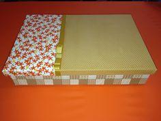 Caixa utilitária revestida com tecido. #diy #caixarevestidatecido #nanysomers #decoracao #decoration