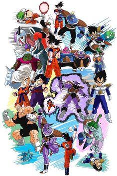 Dragon Ball Z - Namek saga Dragon Ball Z, Anime Echii, Manga Dragon, Bd Comics, Z Arts, Fan Art, Saga, Illustration, Geek Stuff