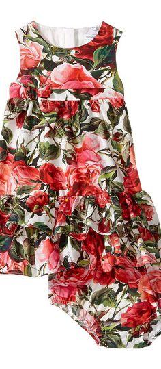 Dolce & Gabbana Kids Zambia Shirt/Shorts Set (Infant) (Rose Print) Girl's Dress - Dolce & Gabbana Kids, Zambia Shirt/Shorts Set (Infant), L27D58FS54B-100, Apparel Top Dress, Dress, Top, Apparel, Clothes Clothing, Gift, - Fashion Ideas To Inspire