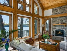 Large great room windows will allow light to enter your home and ensure you have the best view of your waterfront location.