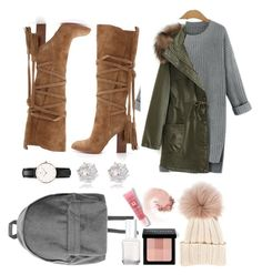 """""""Untitled #124"""" by sylvieraith on Polyvore featuring Daniel Wellington, River Island, WithChic, Bobbi Brown Cosmetics, Essie, Lancôme, Inverni, NARS Cosmetics and Michael Kors"""