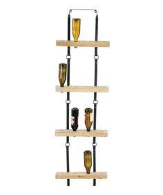 Metal & Wood Block Wine Rack by Evergreen #zulily #zulilyfinds