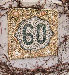 mosaic house sign by Waschbear - Frances Green, via Flickr