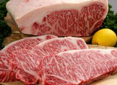 """Why is Kobe Wagyu so expensive? — Explore the """"Kings and Princesses"""" life of Kobe Cows - Living + Nomads – Travel tips, Guides, News & Information! Wagyu Kobe Beef, Kobe Steak, Meat Steak, Best Meat Dishes, Australian Wagyu, How To Cook Beef, Beef Ribs"""