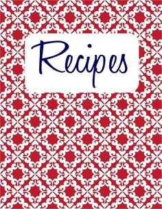 recipe cover page template | 26. Recipe Binder {free printable} ~ Instead of writing out a recipe ...