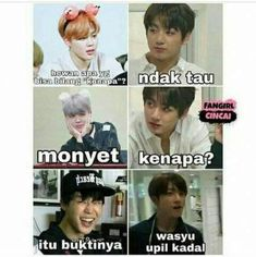 New memes bts sub indo Ideas Memes Funny Faces, Funny Kpop Memes, Kid Memes, Love Memes, Best Memes, Mom Humor, Girl Humor, Reaction Face, Bts Face