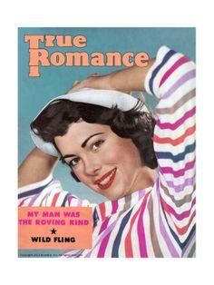 True Romance Vintage Magazine - July 1955 - Wild Fling Giclee Print at Art.com