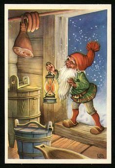 Julkort av Lars Carlsson. Från 1960-talet.