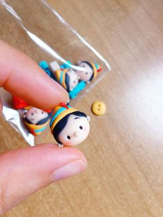 Pinocchio Tsum Tsum studs in fimo