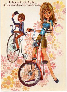Vintage Ansichtskarte 70er Jahre teenager Teens von CuteEyeCatchers