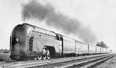 Mercury trains, used by the New York Central Railroad, designed by Henry Dreyfuss, operated between 1936 and 1959.