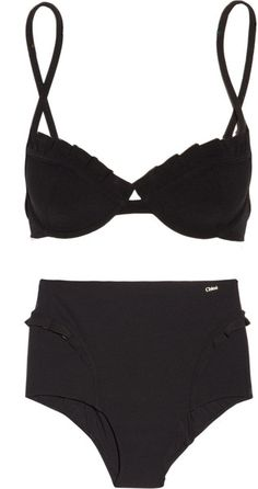 chloé high waisted ruffled bikini